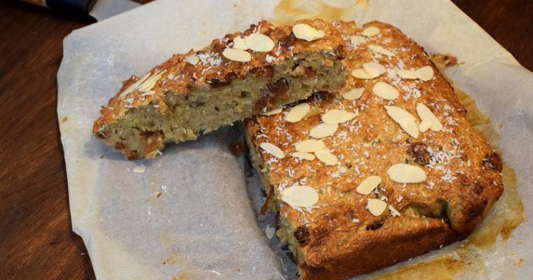 Havermout cake met kokos&amandelschaaf