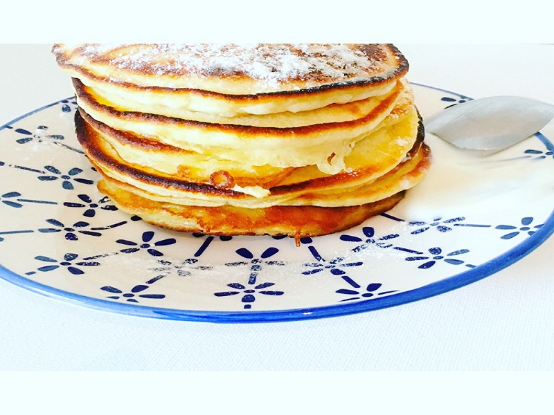 Vanille yoghurt pancakes
