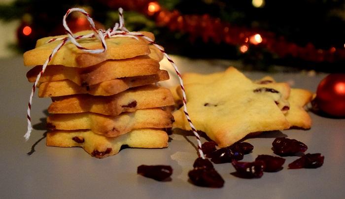 Kerstkoekjes met cranberry's